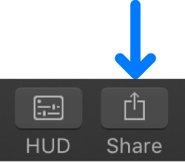 Share button in the toolbar