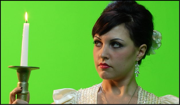 Green screen clip prior to keying
