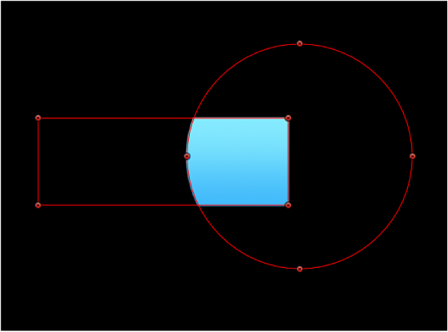 Canvas showing mask intersecting alpha channel