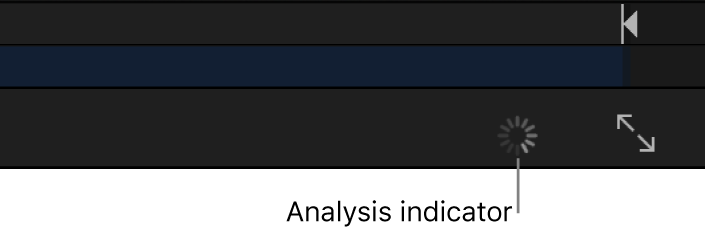 Analysis indicator in the canvas toolbar