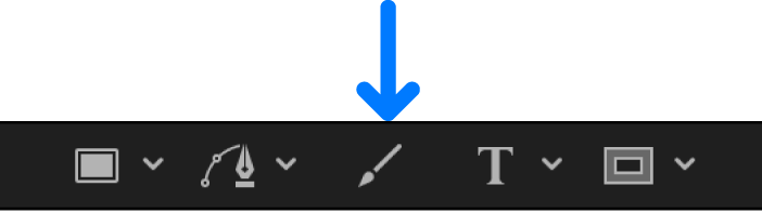 Paint Stroke tool in the canvas toolbar