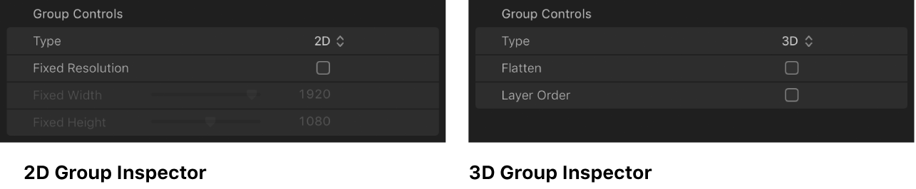 Comparison of 2D Group Inspector and 3D Group Inspector
