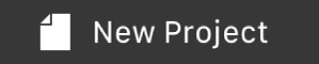 New Project button in the Touch Bar