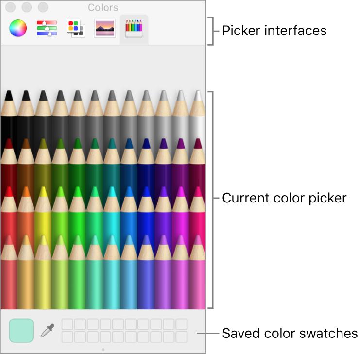 Colors window