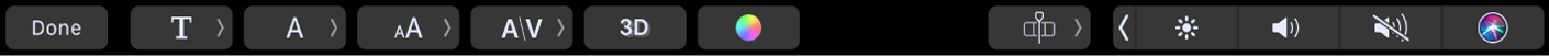 Touch Bar text options