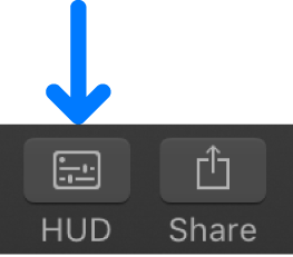 HUD button in the toolbar