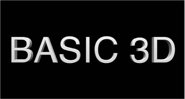 The viewer showing a 3D title from the front