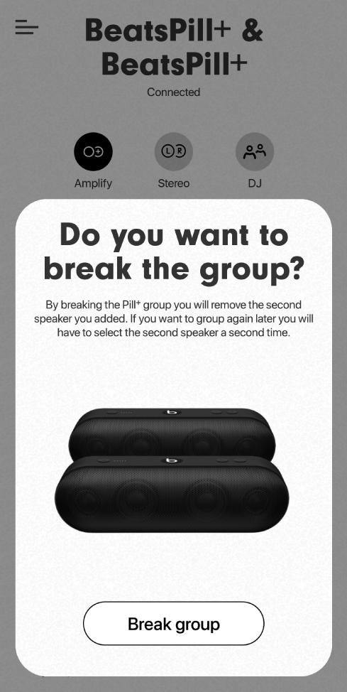 Beats app showing Break group card