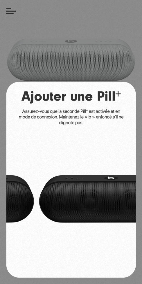 Écran «Ajouter une Pill+»