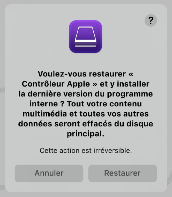 Ordinateur Apple doté de la puce de sécurité AppleT2 dans Apple Configurator2.
