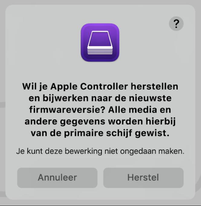 Een Apple computer met de AppleT2 Security-chip in Apple Configurator2.