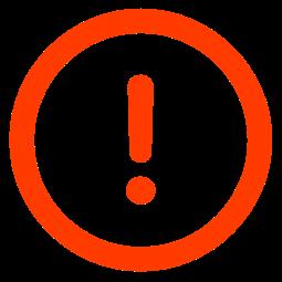 het 'Fout bij Opdracht'-symbool