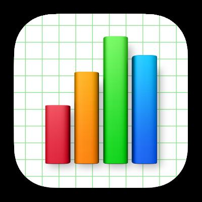 Ikona aplikácie Numbers.