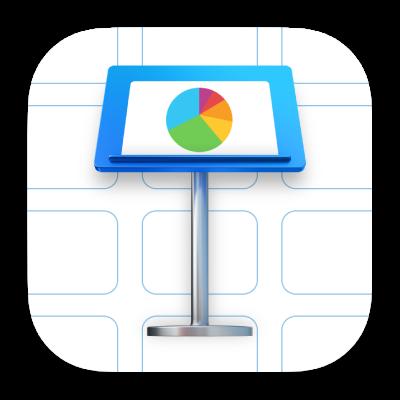O ícone da aplicação Keynote.