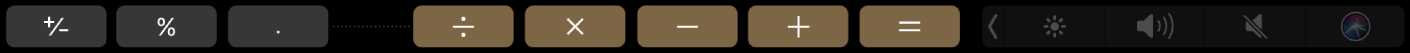 TouchBarpro Kalkulačku vrežimu úprav