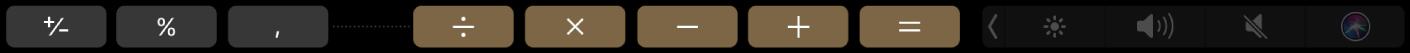 Die TouchBar für den Rechner im Bearbeitungsmodus.