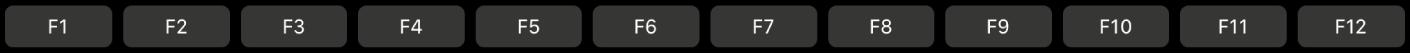 TouchBaravec les touches de fonction F1 à F12.