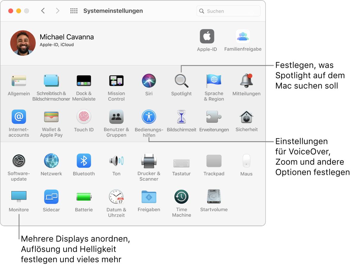 Apple Systemeinstellungen