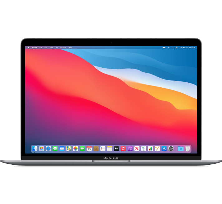Front view of MacBook Air.