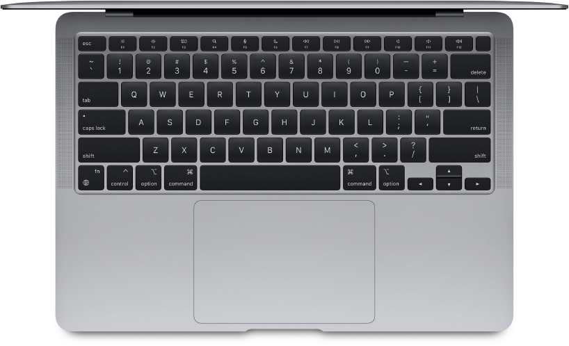 Bovenaanzicht van de MacBook Air.