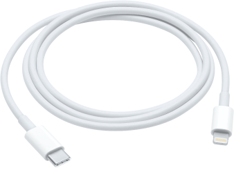 Cabo de USB-C para Lightning.
