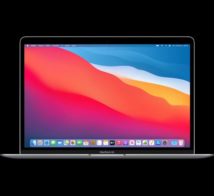 Vista frontal do MacBook Air.