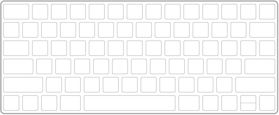 MagicKeyboard tastatūras ilustrācija.