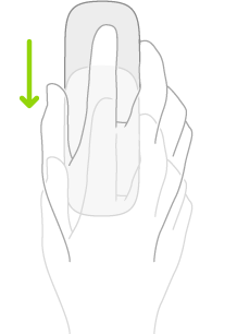 Ilustrasi yang menyimbolkan cara untuk menggunakan tetikus bagi membuka Dock.