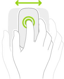 Ilustrasi yang menyimbolkan cara untuk menggunakan tetikus bagi menyeret item.