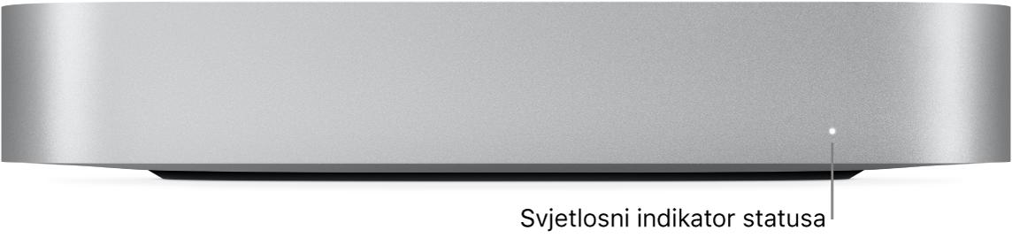 Prednja strana računala Macmini pokazuje svjetlosni indikator stanja.