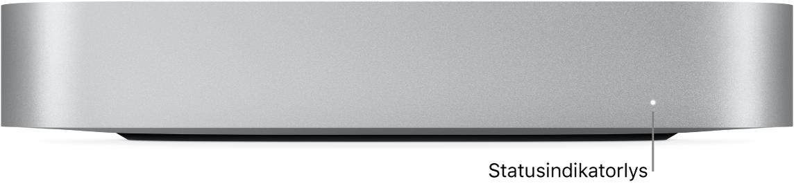 Forsiden av Mac mini som viser statusindikatorlyset.