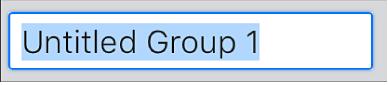Textfältet Skapa grupp.