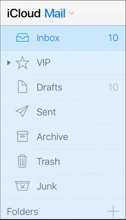 The Mail sidebar