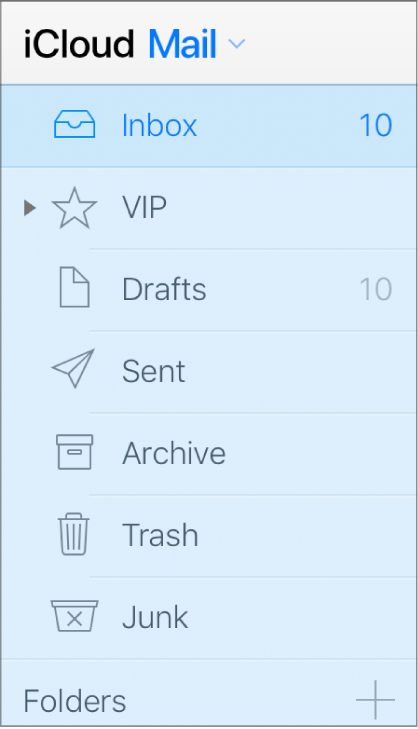Bočna traka aplikacije Mail