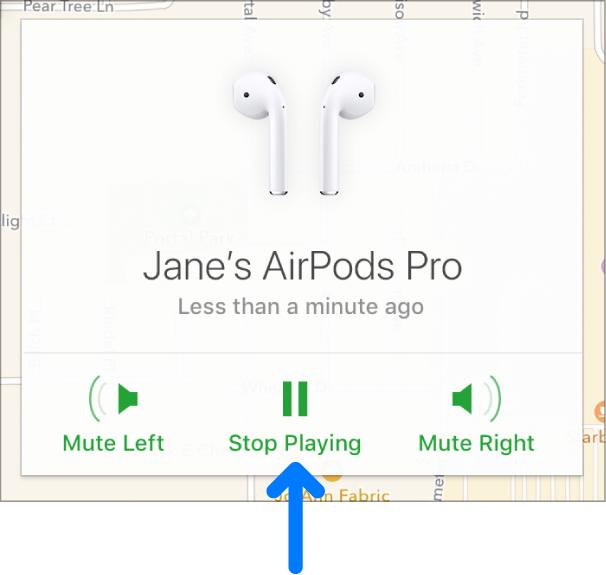 De knop 'Verloren-modus' in het midden onder in het venster 'Info' van het apparaat.