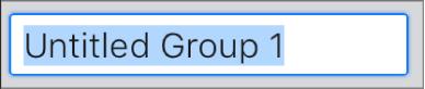 Το πεδίο κειμένου «Δημιουργία ομάδας».