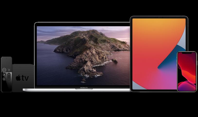 Zu den Einschränkungen und Payloads für AppleTV gehört das Zurückhalten von Softwareupdates und das Einrichten des Home-Bildschirms.