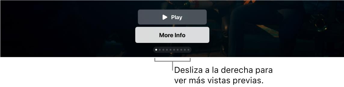 Controles de vista previa adicionales en la pantalla de inicio