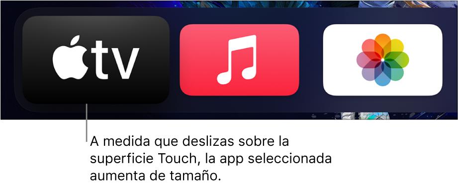 App seleccionada en la pantalla de inicio