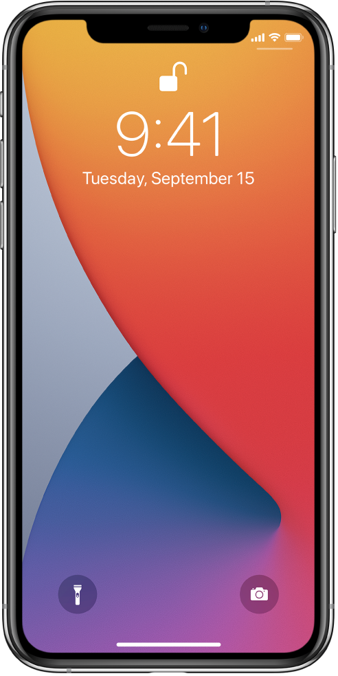 Замкнений екран iPhone, на якому відображаються час і дата.