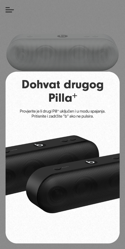 "Zaslon ""Dohvati drugi Pill+"""
