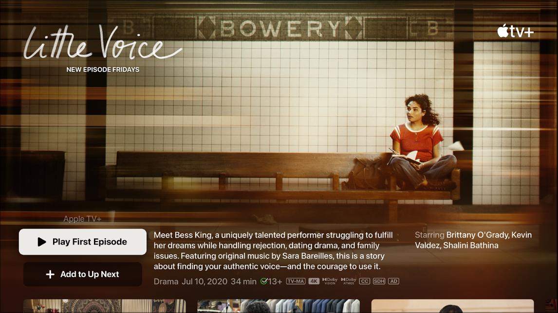 Екран, показващ екрана за търсене в телевизионно предаване.