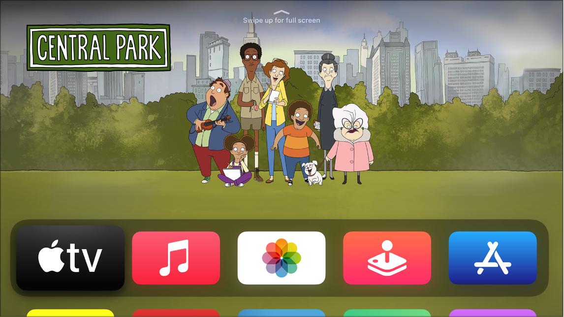 Приложението Apple TV в екран Начало