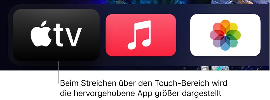 Ausgewählte App auf dem Home-Bildschirm