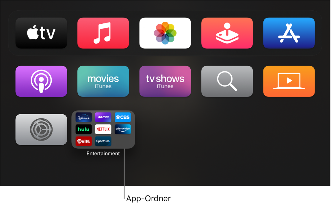 Home-Bildschirm mit App-Ordner