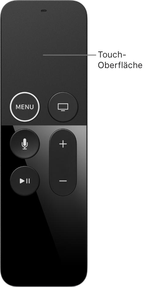 Remote mit Touch-Oberfläche