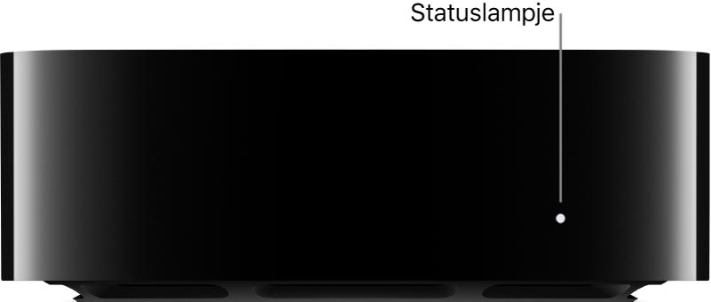 AppleTV met bijschrift voor statuslampje