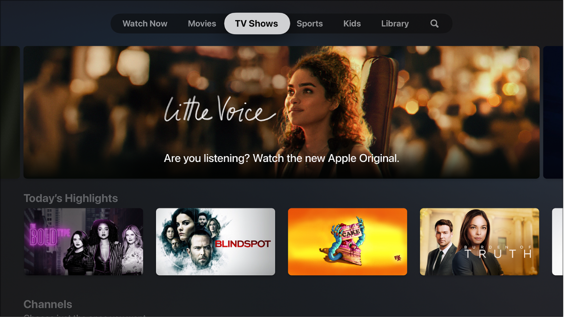 Scherm met 'Tv-programma's'