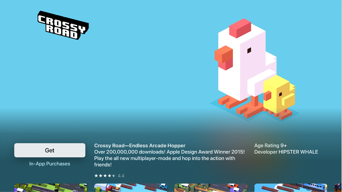 AppStore met de detailpagina voor een app