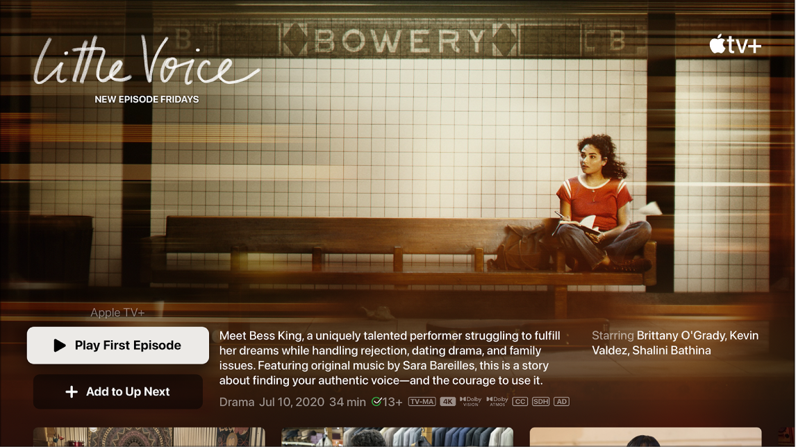 Tela mostrando a tela de busca de um programa de televisão